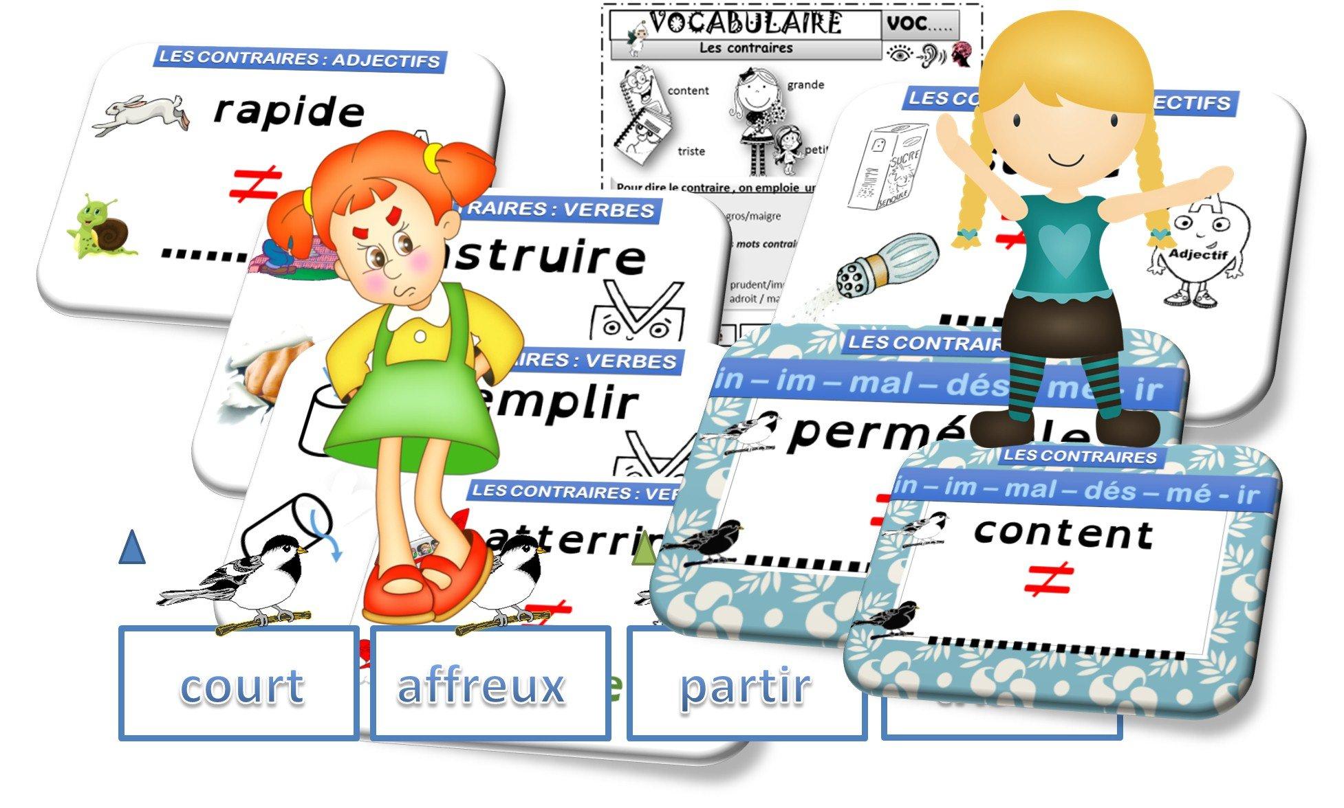 Lexique Les Contraires Cp Ce1 Recreatisse