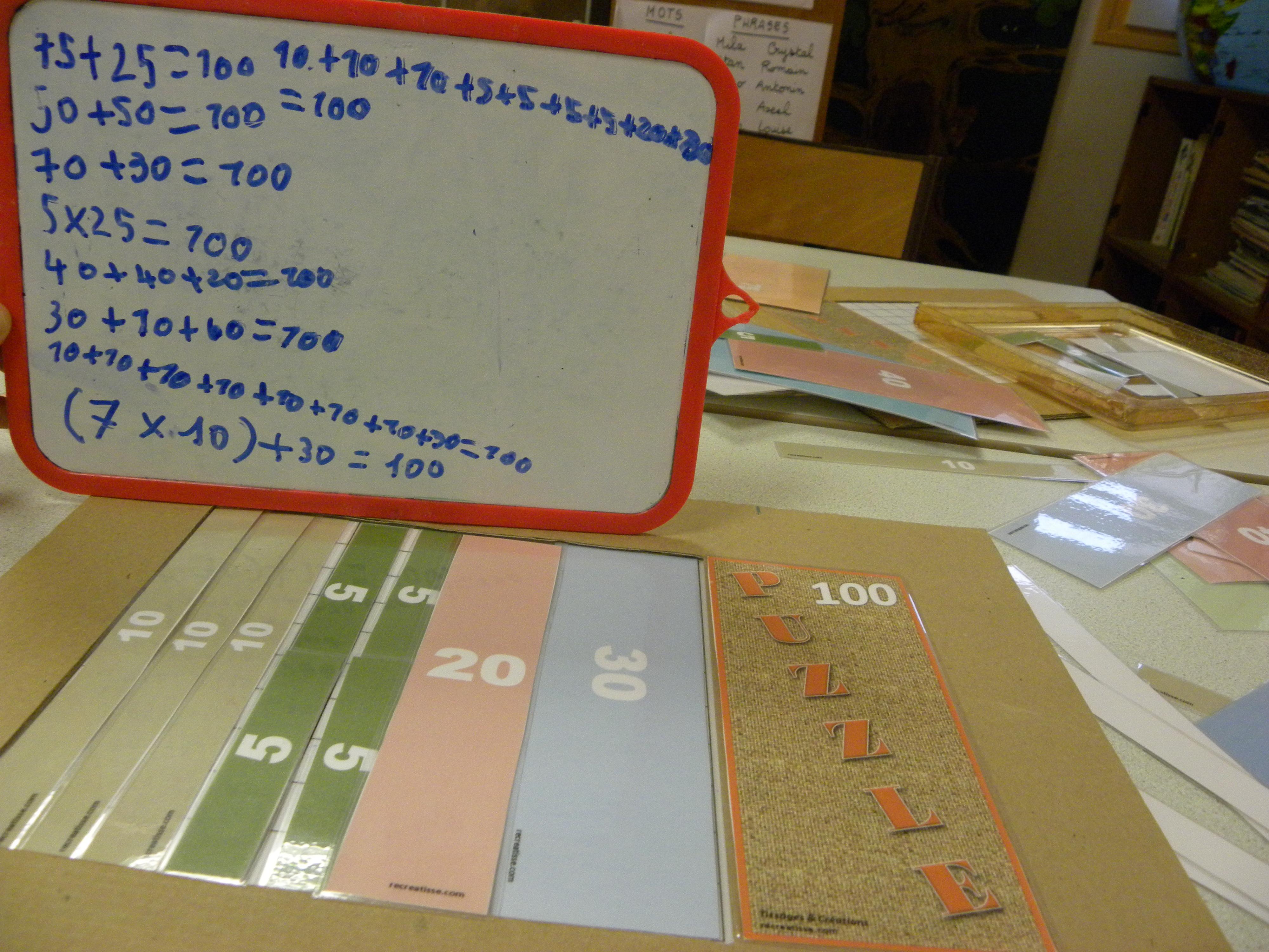 Le Puzzle Du Nombre 100 Cp Ce1 Recreatisse
