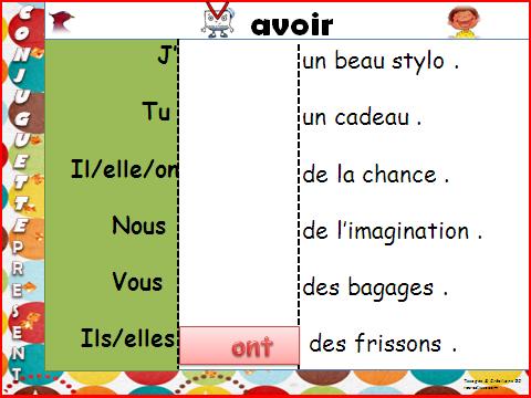 """CONJUGAISON JEU """"La conjuguette"""" CE1 / CE2 • ReCreatisse"""