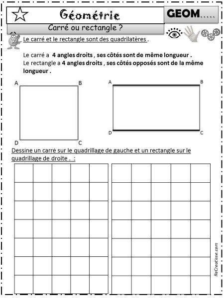 Sequence Figures Geometriques Angle Droit Cp Ce1 Ce2 Recreatisse