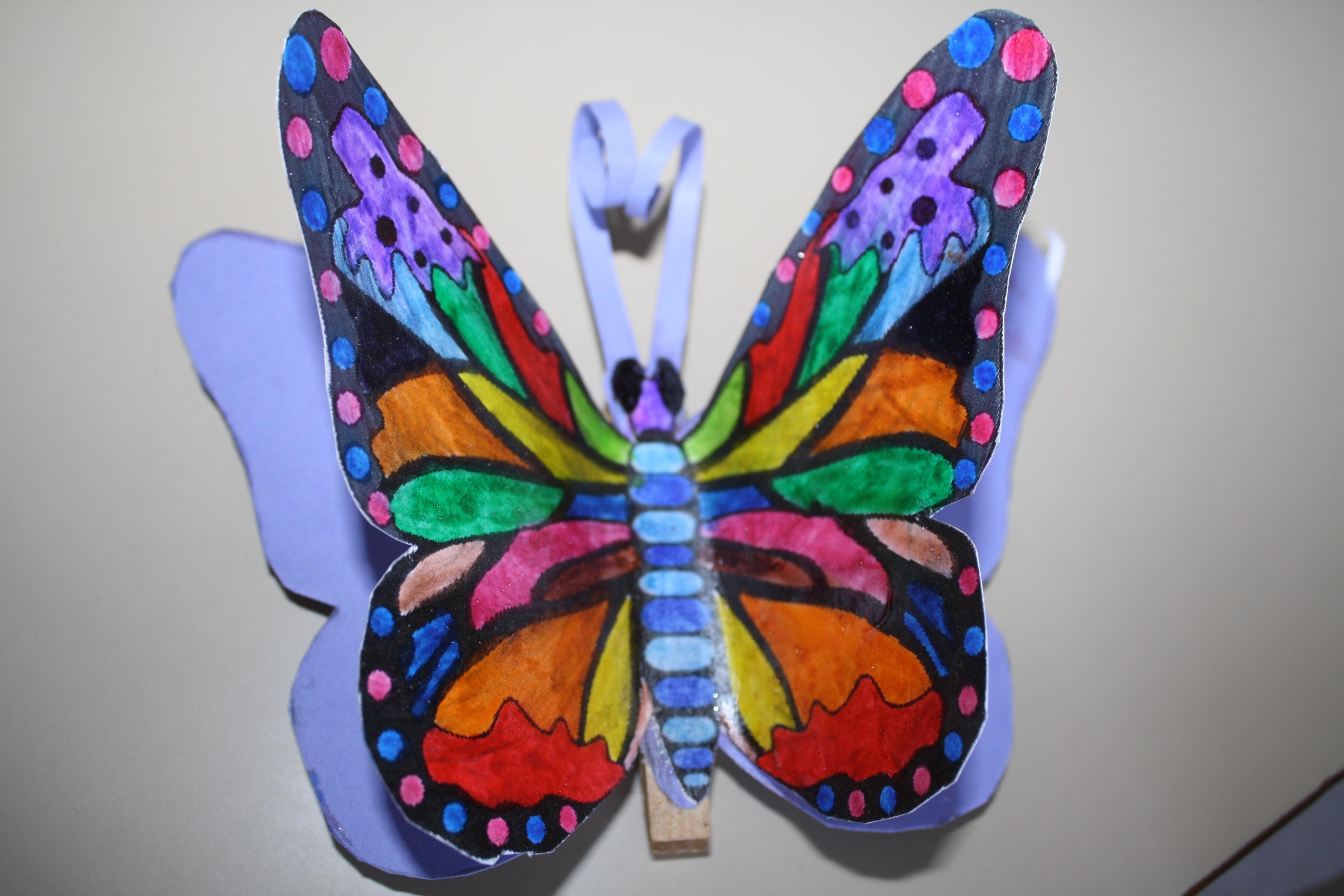 papillons a decouper