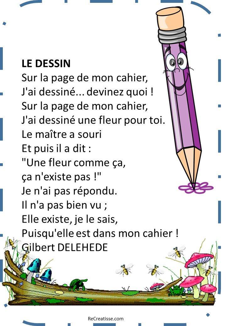 Des Poesies Pour La Rentree Recreatisse