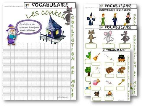 Souvent VOCABULAIRE : Les contes CP/CE1 • ReCreatisse UP16