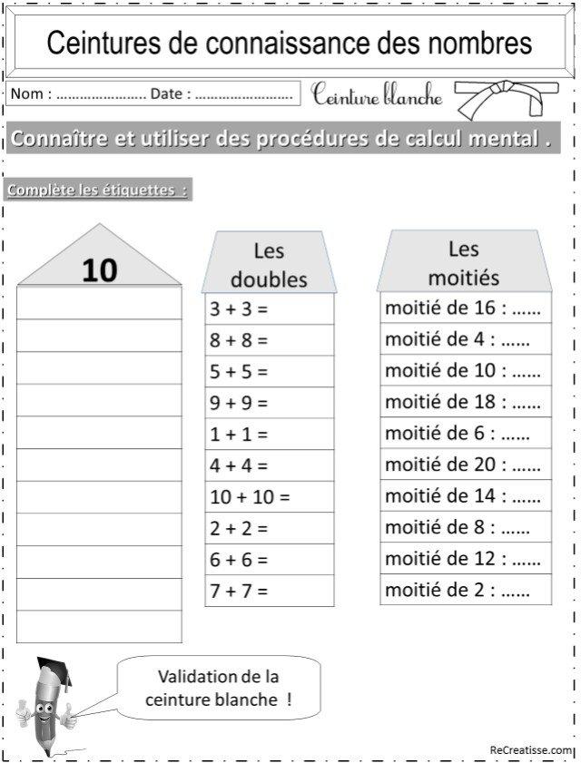 Numeration ceintures connaissance des nombres et calcul recreatisse - Calcul nombre de parpaing ...