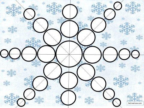 flocon de neige en papier