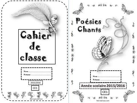 Super PAGES de GARDE et SOMMAIRES 2015 / 2016 - CP / CE1 / CE2 • ReCreatisse BE97