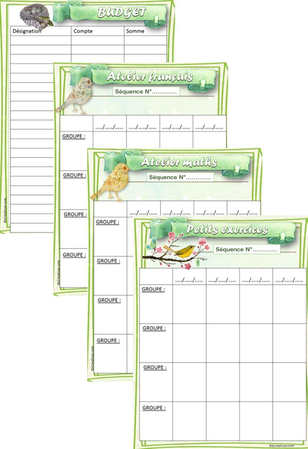 ORGANISATION : Cahier journal de la maitresse • ReCreatisse