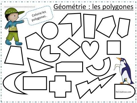 Geometrie Decouverte Des Polygones Avec Les Pingouins Recreatisse