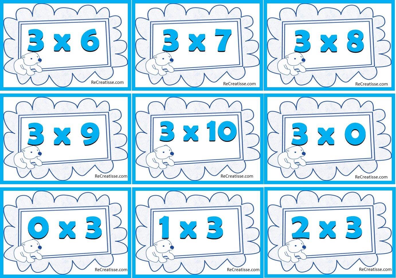 Ateliers jeux activites autour de la multiplication - Tables de multiplications a imprimer ...