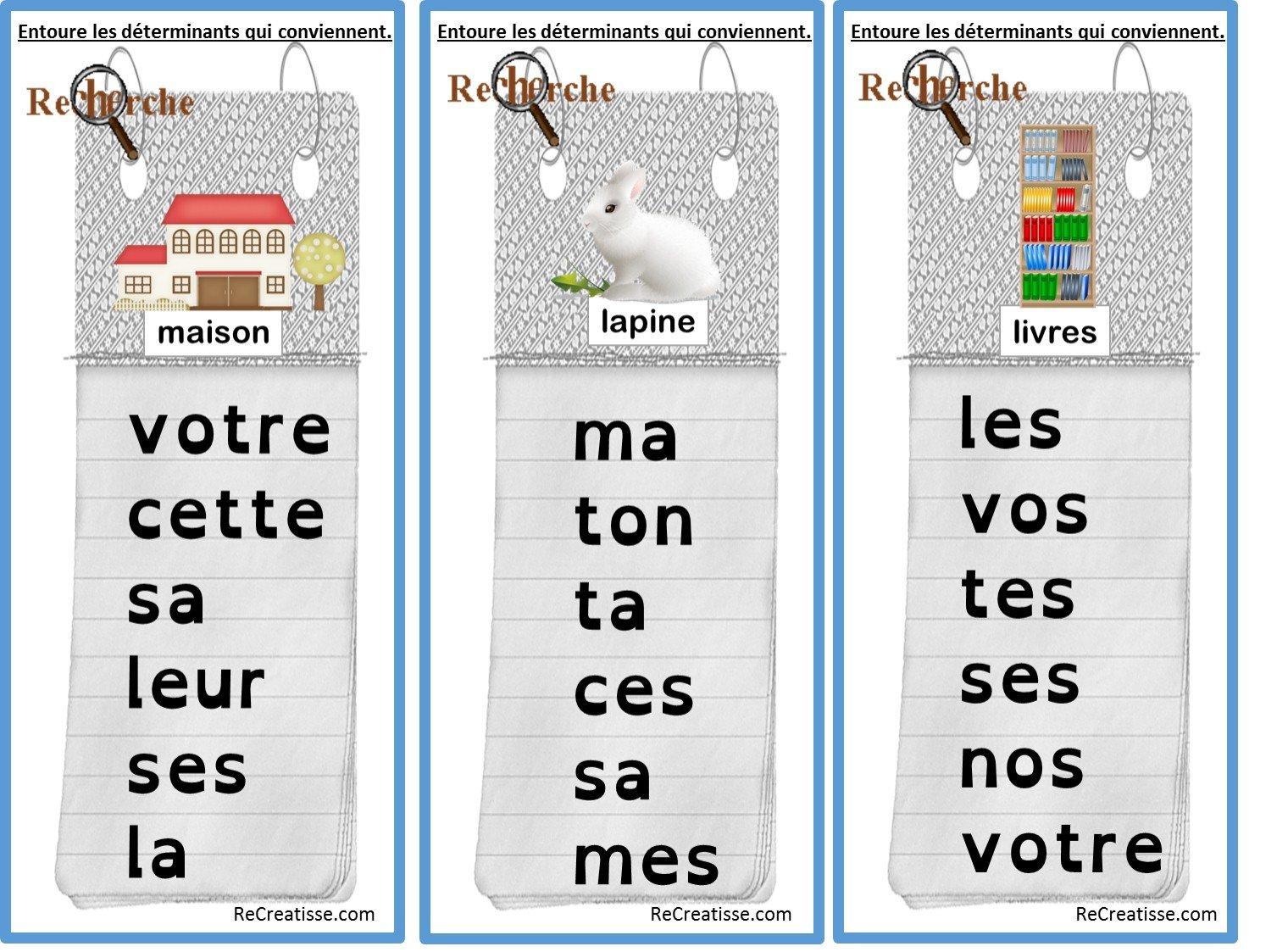 Ateliers Grammaire Le Genre Et Le Nombre Recreatisse