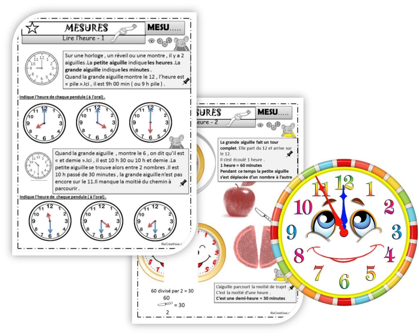 Séquence mesures : Le temps qui passe - l'heure • ReCreatisse