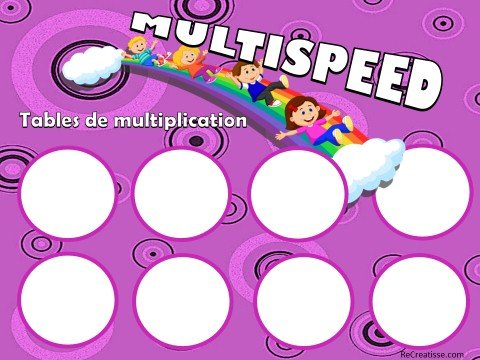 Jeu multispeed et son rituel contributions addispeed soustraspeed recreatisse - Table de multiplication de 30 ...