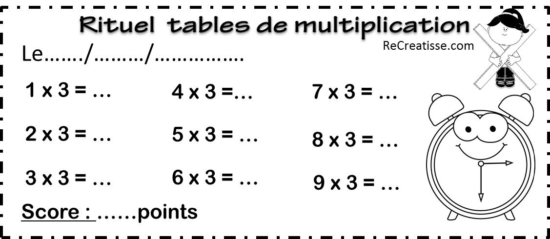 Jeu multispeed et son rituel contributions addispeed - Exercice table de multiplication cm1 ...