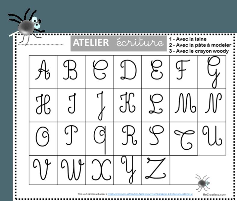 Ateliers Ecriture Des Majuscules Recreatisse