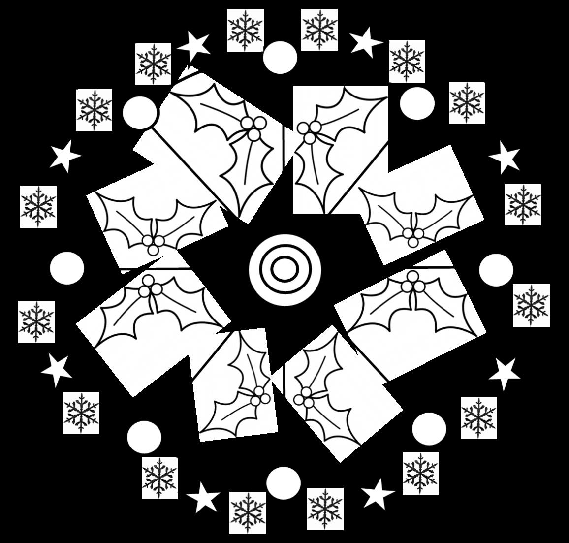 Coloriages Mandalas De Noël Recreatisse