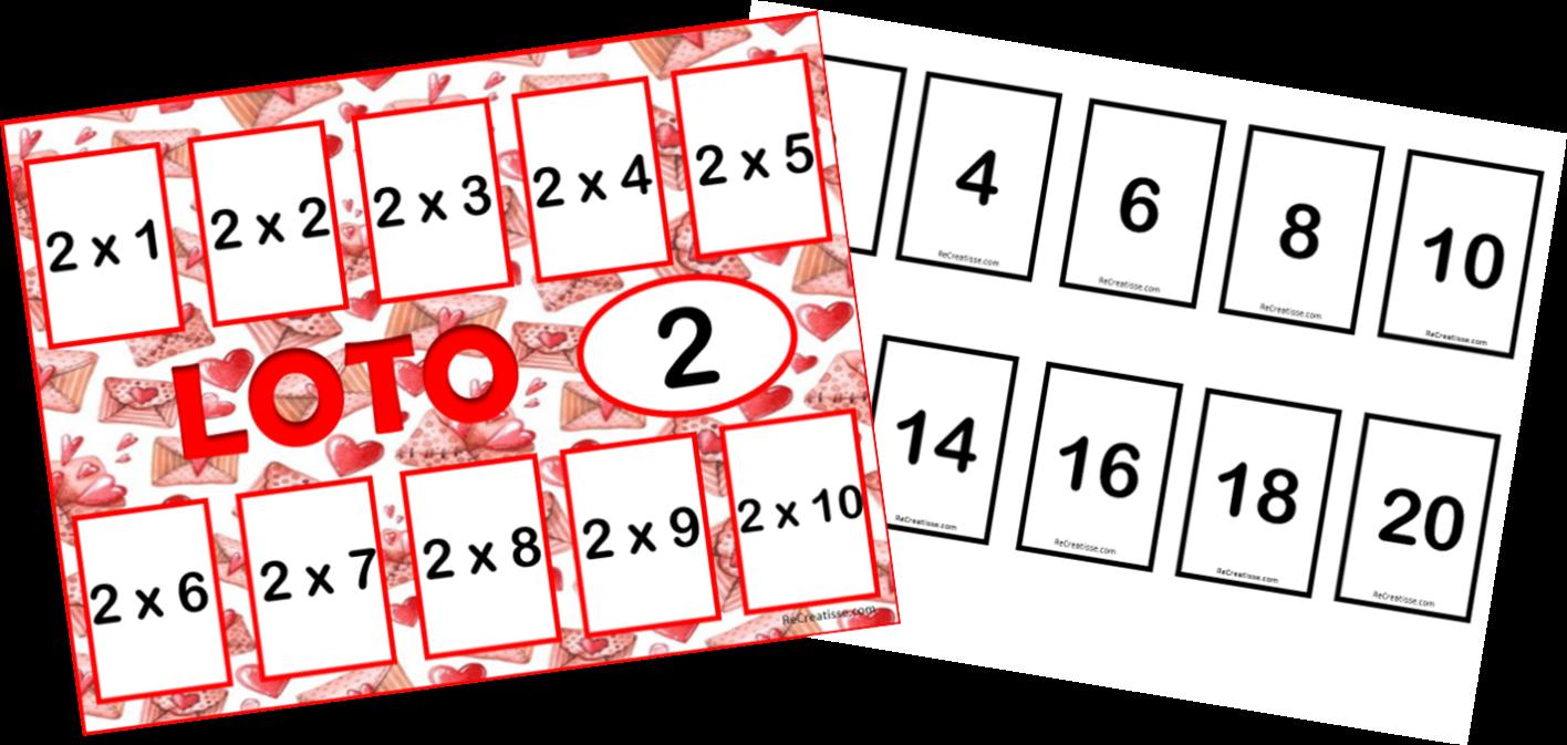 Jeux de cartes : tables de multiplication • ReCreatisse